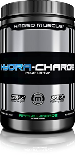 Muscle Volumizer Cell (KAGED MUSCLE, Hydra-Charge Premium Electrolyte, Hydrate, Pre Workout, Post Workout, Intra Workout, Apple Limeade, 60 Servings)