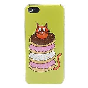 PEACH Cute Kitten Pattern PC Back Case for iPhone 5