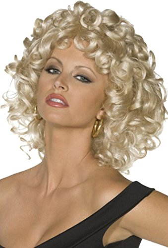Ladies Fancy Dress Party Costume Headwear Curly Hair Sandy Last Scene Wig Blonde