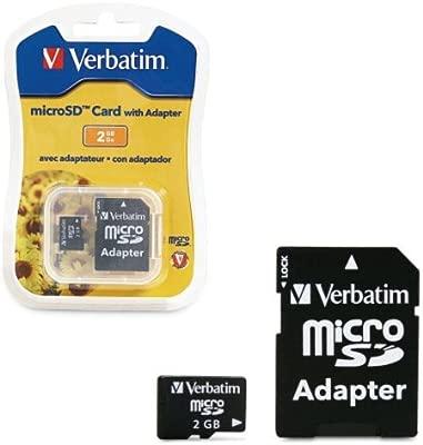 Verbatim microSDTM Card, Adapter - 2GB 2GB MicroSD Memoria ...
