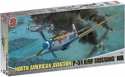 Airfix A14003 North American Mustang P-51K/RF Mustang 1:24 Scale Series 14 Plastic Model Kit by Airfix World War II Military Aircraft