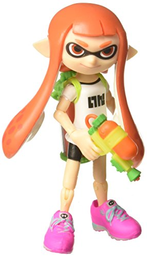 World of Nintendo Inkling Girl with Blaster Action Figure, 4