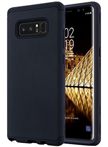 ULAK Galaxy Note 8 Case, Note 8 Case, Three Layer Heavy Duty High Impact Resistant Hybrid Protective Cover Case for Samsung Galaxy Note 8 Black