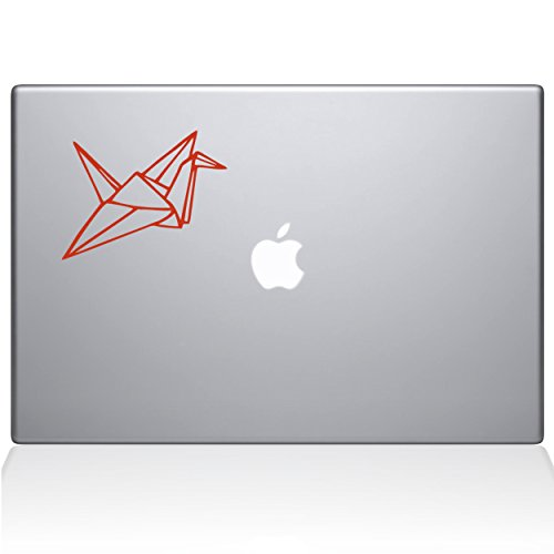 Add Crane (Paper Crane Removable Vinyl Decal Sticker Skin for Apple Macbook Pro 15 inch (Pre-2016 model) Laptop in Persimmon)
