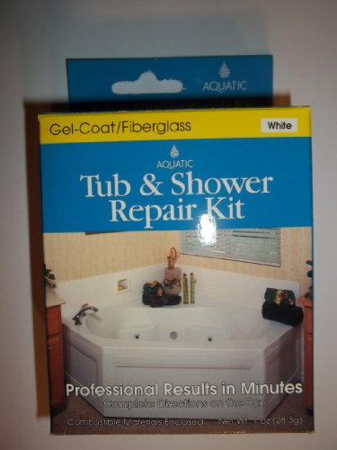 Aquatic Tub and Shower Repair Kit, White (Shower Wall Repair Kit)