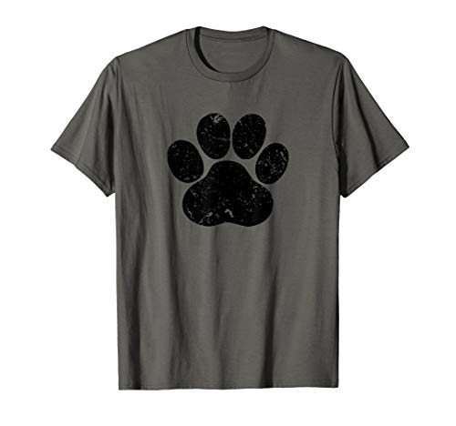 Distressed Paw Print Tshirt, Rescue Tshirt, Cat or Dog Lover
