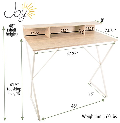 Joy Desk by Stand Steady - Modern Home Office Standing Desk Workstation with Storage Cubbies! - 47.5'' x 41.5'' by Stand Steady (Image #5)