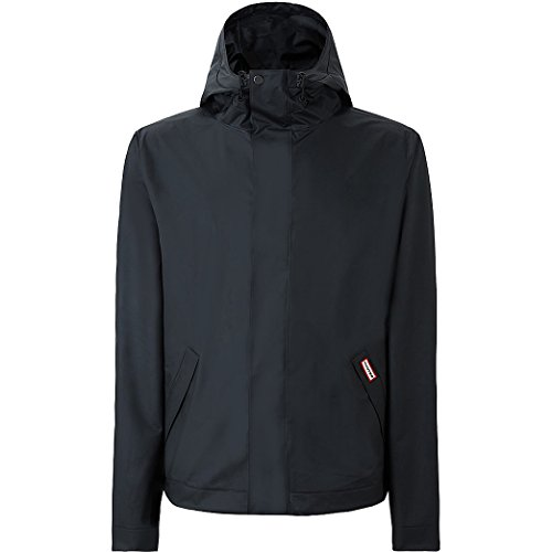 Hunter  Men's Original Vinyl Windcheater Black Outerwear by Hunter
