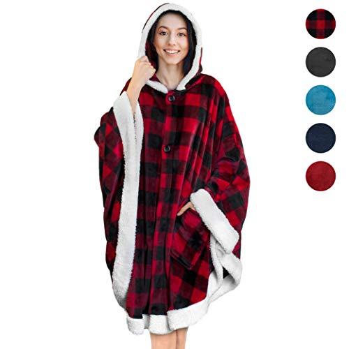 PAVILIA Blanket Wearable Pockets Checker product image