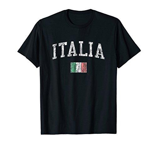 Italy T-Shirt Vintage Italia Sports Design Italian Flag Tee