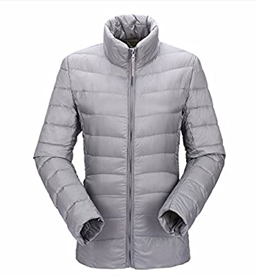 JJMG Women's Packabe Ultra Light Weight Down Coat Short Jacket Outwear Blazer