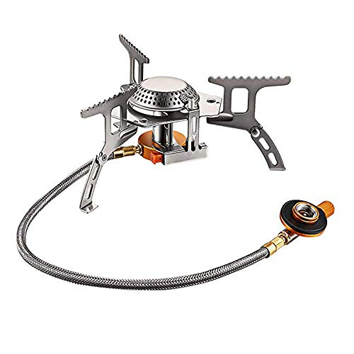 Camping Gas Stove, Foldable Backpack Stove, Portable Stove for Ultralight Camping/Backpacking