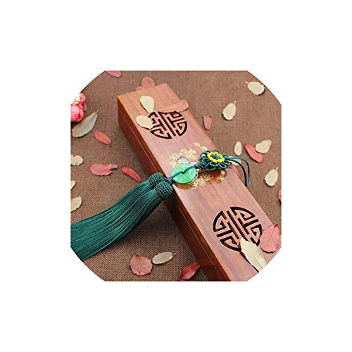 Tassel 33Cm Long Chinese Knot Tassel Jewelry Safety Pendant Car Musical Instrument DIY Peace Tassel Accessories,Blackish Green Double Happiness Green Pendant