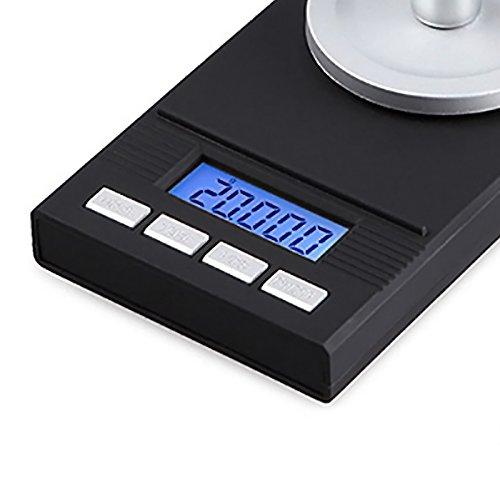 Moligh doll 2018 Neue Hohe Praezision 50g 0,001g Schmuck Skala Elektronische Waage mit Gewichtsstein