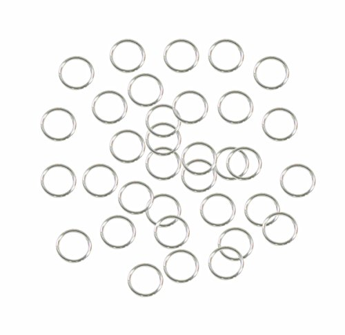 Rockin Beads Soldered Closed 100 Jump Rings, Silver-plated, 8mm Round, 21 Gauge (Round Closed Ring)