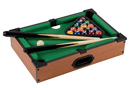 Juvale Tabletop Pool Set - Mini Billiard, Miniature Billiard Game, Sport Board Game, Adult Toy, for Home, Bar, Indoor Outdoor, Games, Sports, 13.9 x 9.3 x 2.7 Inches