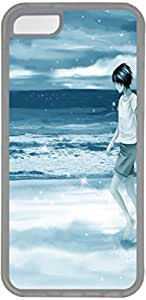Bling Cartoon Sea Iphone 5c Cases, Cartoon Boy Iphone 5c Cases- Transparent Sides