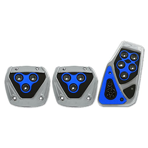 Pilot Automotive Pilot PM-2313B2 Voltage Pedal Pad Set for Manual Transmissions - Black/Blue ()