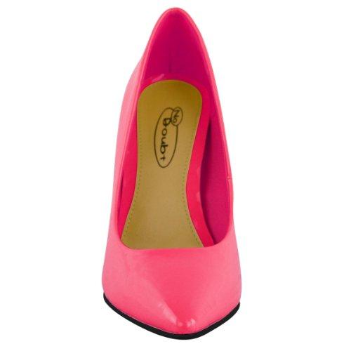 Fluorescent Clair Talon Haut Bout Femmes Escarpin Pointu Néon Rose Taille Tax4YdE
