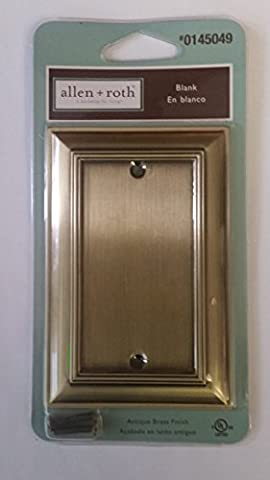 Allen + Roth Antique Brass Blank Cover (Allen Roth Covers)