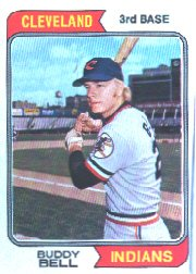 (1974 Topps Baseball Card #257 Buddy Bell)