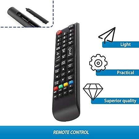 James Products Controlador de Control Remoto Universal de TV Apto para monitores Samsung Smart TV LCD Negro: Amazon.es: Hogar