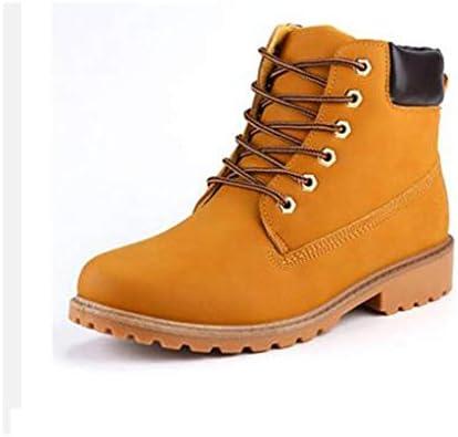 メンズ雪のブーツ暖かい冬の古典的な作業靴快適な人工皮革の滑り止め耐摩耗性マルチカラーオプション (色 : 黄, Tamaño del zapato : 26.5 CM)
