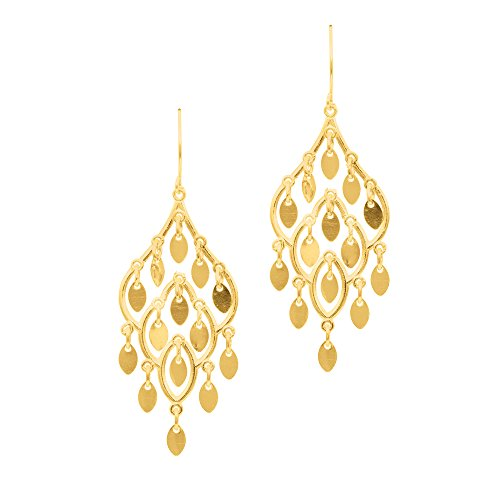 Yellow Gold Chandelier Dangle - 8