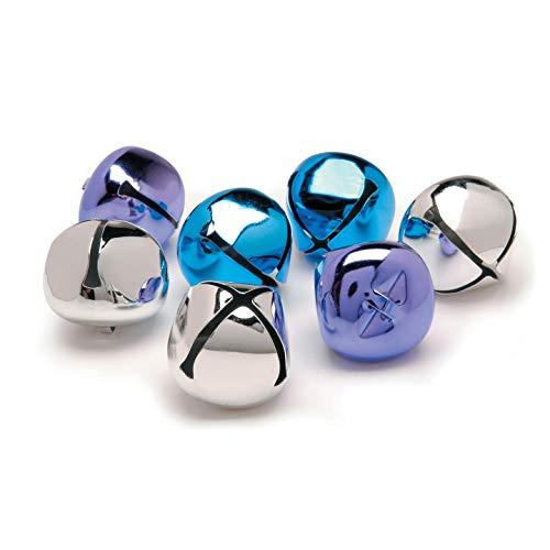 Bulk Buy: Darice DIY Crafts Jingle Bells Blue Purple Silver Assorted 8 pieces (6-Pack) 1099-99