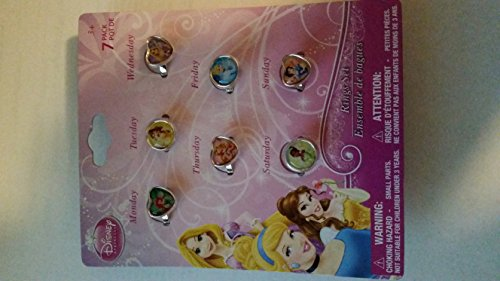 Disney Princess 7 Days of the Week Ring Set