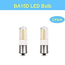 BrothersLED 1142 1076 BA15D Double Contact Bayonet LED Light Bulbs, Replacement for RV Camper Trailer Automotive Light Bulbs and Marine Boat Lights, Works on 12V&24V (2-Pack, Warm White)