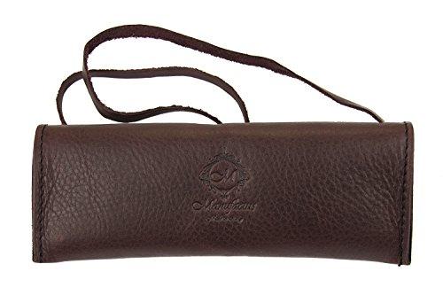 Dark Burgundy Genuine Leather Handcrafted Multipurpose Eyeglass Case Holder from Italy
