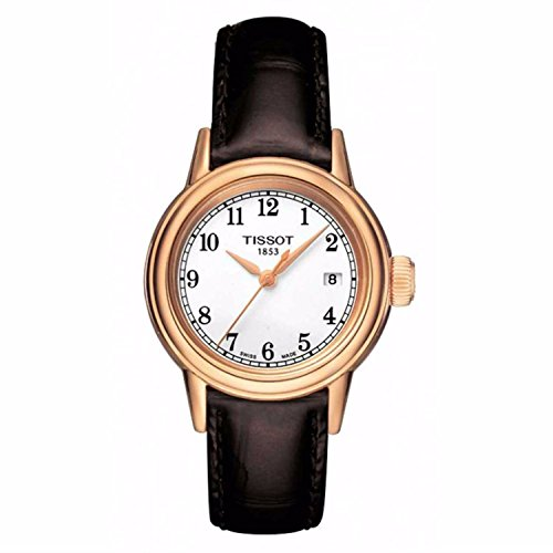 - Tissot Carson Lady White Dial Brown Leather Watch (T0852103601200)