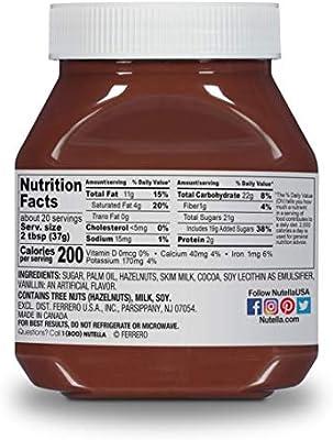 Nutella Chocolate Hazelnut Spread, 26 5 oz Jar