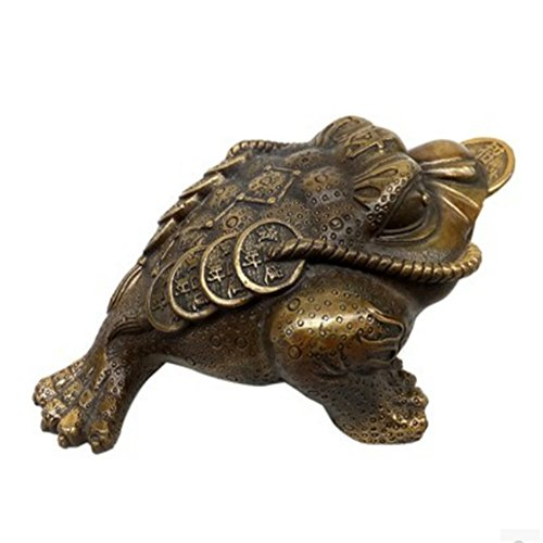 Spie Toad Zhaocai Copper Tripod Brass Ornaments CAI Feng Shui Supplies Imitation Antique Money Toad Toad