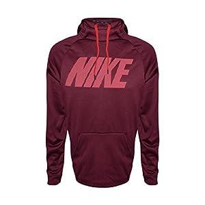 NIKE Mens Therma Training Pull Over Hooded Sweatshirt Night Maroon 922440-681 Size X-Large