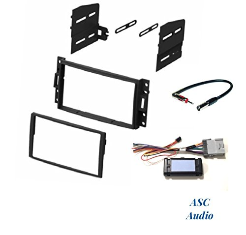 (ASC Audio Premium Car Stereo Dash Kit, Wire Harness, and Antenna Adapter to Install an Double Din Radio for some Buick Chevrolet Hummer Pontiac Saturn with + without Bose - See Full Details Below)
