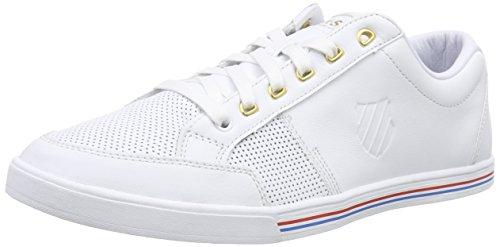White Uomo Bianco White Wei Ginnastica P Swiss K Court Match da 101 Scarpe 0UvTHS