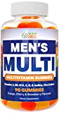 Multi Gummies for Men by Feel Great 365, Packed with Vitamin A, B-6, B-12, C, D, E, Iodine, Choline, Folic Acid, Zinc & More, Supports Healthy Immune Functions