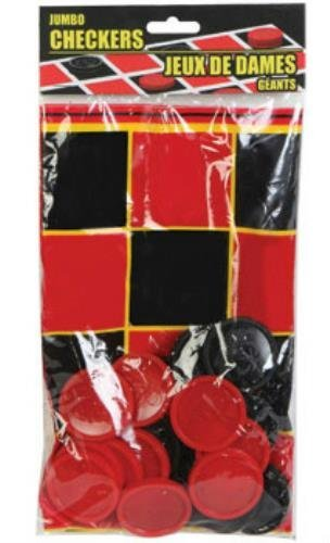 (25 Piece Plastic Jumbo Checkers Game Set)