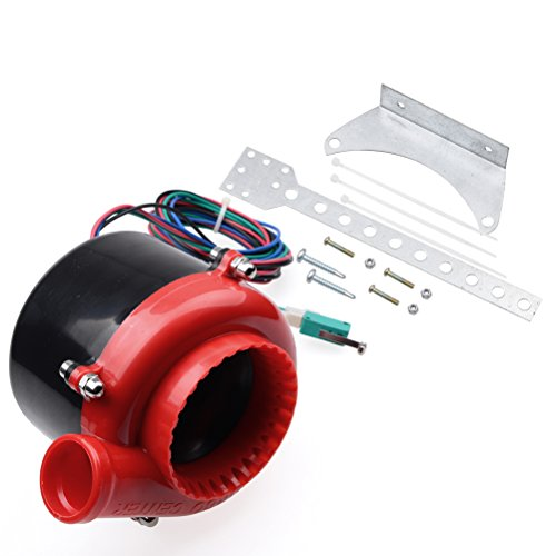 Red Car Electronic Fake Turbo Dump Blow Off Valve BOV Analog Sound Simulator with Pedal Switch for Buick Chevrolet Chevy Dodge GMC Ford (Exhaust System Rs5 Complete)