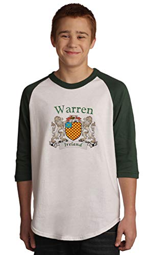 Warren Irish Coat of Arms Jersey Tee 3/4 sleeve