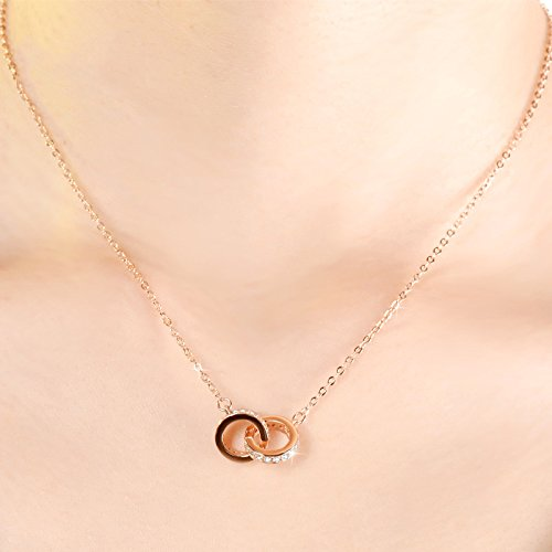 Generic 925_British_ women girl clavicle chain necklace pendant women girl student Day simple pendant necklace summer _influx_of_ people by Generic