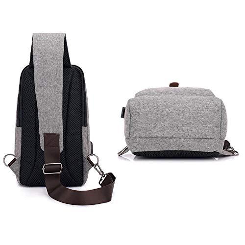 Cargo Usb With Men Port Wind Gray Bag Windbag Schouder Bag Cross Backpack Women And Goal Hiking UwqCvzxwp