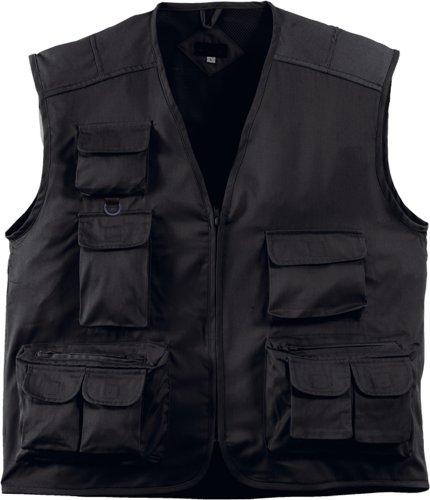 Handwerkerweste / Arbeitsweste / Montageweste, Farbe schwarz, Grösse XXL, TOP-Preis, viele Taschen
