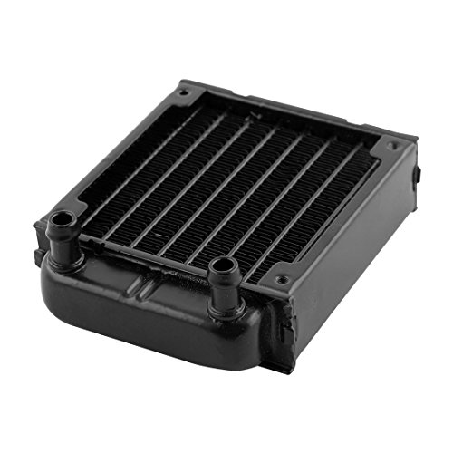 uxcell Aluminum Computer CPU 8 Pipes Water Cooling Heat Exchanger Radiator 80mm Black