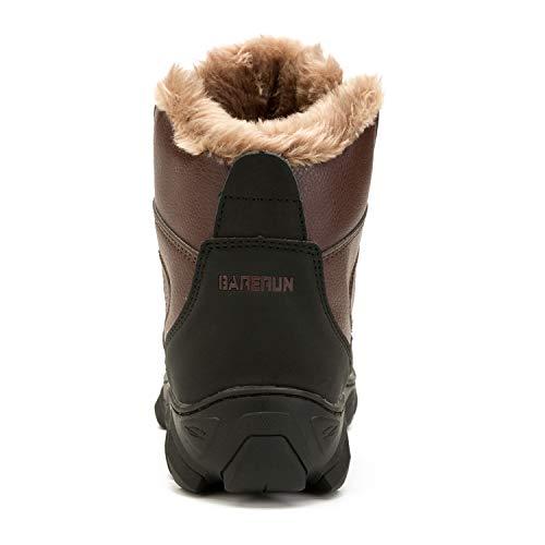 Snow Snow in Stivaletti Caviglia L L Fodera Mens in Gomma Winter Boots RUN Pelliccia Uomo per Rosso Marrone alla qH1tH8wx