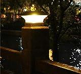 Solar Post Cap Lights Outdoor Super Bright 20 Lumen