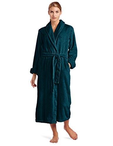 Casual Moments - Albornoz para mujer, Verde Azulado Verde, XL