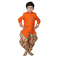 Fourfolds Indo Western and Printed Dhoti set for Kids and Boys 262